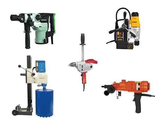 Magnetic Concrete Heavy-Duty Drills