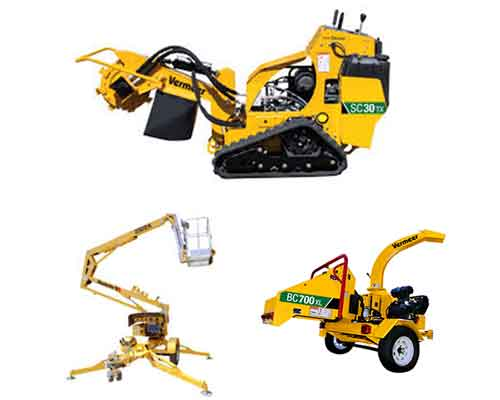 Tree Equipment - Boom Lift, Chipper, and Stump Cutter