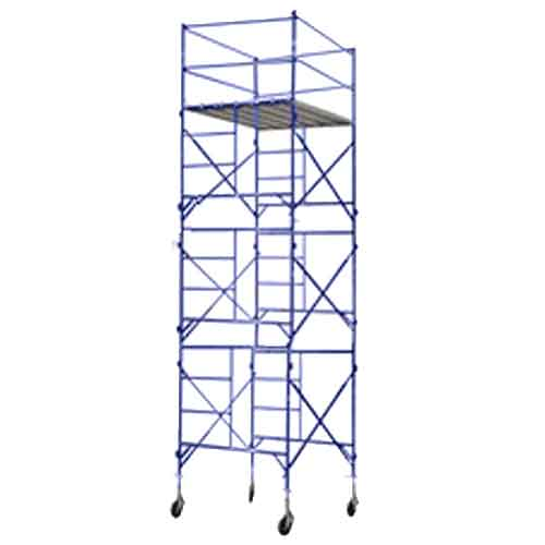 Rolling Scaffolding Tower with Guard Rails and Platform