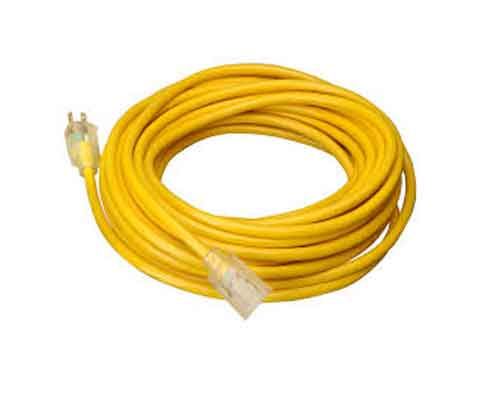 Coleman Cable 12 Yellow Outdoor 12/3 Extension Cords