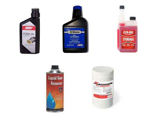 Pump Oil, Stabil, 2-cycle Oil, Soot Remover, Coil Conditioner